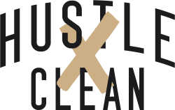 Hustle Clean Logo - Light Backgrounds