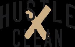 Hustle Clean Logo - Light Backgrounds